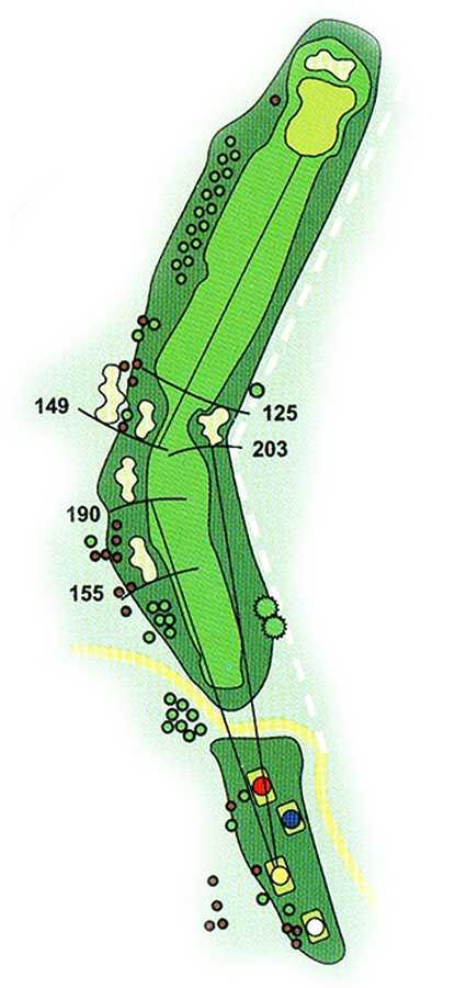 Golf Los Lagos Hoyo 12
